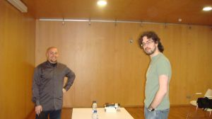 Fernando Luís Sánchez Márquez y yo antes de la presentación.
