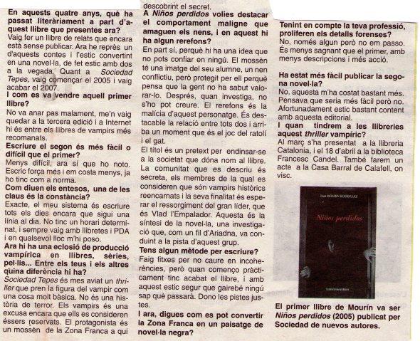 """Entrevista en """"La Marina"""" (2)"""