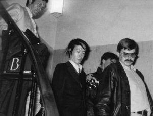 Issei Sagawa en el momento de su detención
