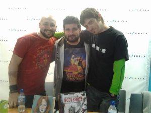 Con Daniel Expósito y Emilio Bueso