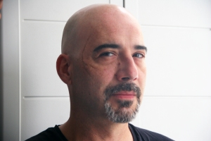 Ferran Terraza, nuestro asesino, maquillado por Marc Zorrilla (Crisálida Creaciones).