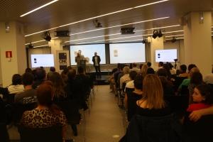 Recogiendo el Premi Mosaic. otorgado por Cinephone y la UOC (Universitat Oberta de Catalunya).