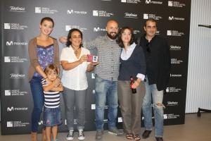 """Algunos de los miembros del equipo de """"Intrusos"""". De izq. a derc., Irene Borrell, Pepa Mayo, yo, Cristina Borrell y Jordi Carbonell (cámara y post producción)."""
