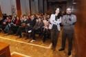 Posando junto al público (Fotógafía de Alba Villar).