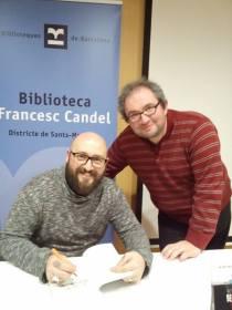 Con Jorge Herrero, uno de los lectores más feroces que jamás he conocido.
